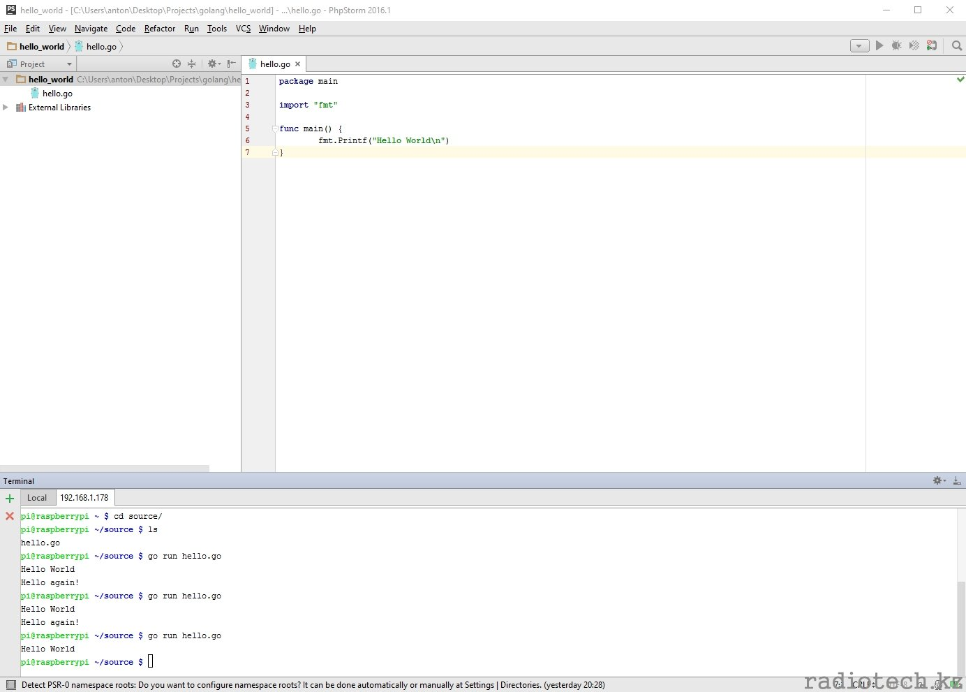 hello_world - [CUsersantonDesktopProjectsgolanghello_world] - ...hello.go - PhpStorm 2016.1.jpg